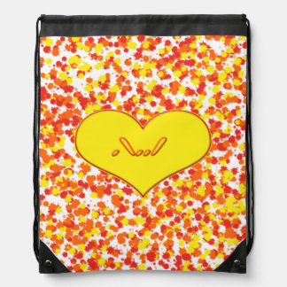 ASL-I Love You with Heart Drawstring Bag