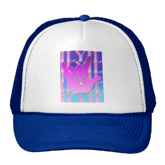 ASL ILY Purple and Blue Trucker Hat