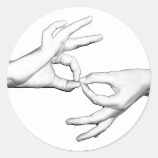 ASL Interpreter Classic Round Sticker