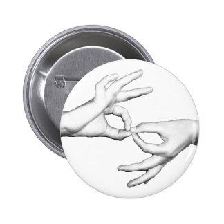ASL Interpreter Pinback Button