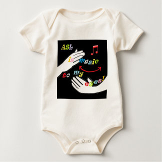 ASL is Music to My EYES! Baby Bodysuit