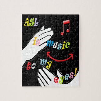 ASL is Music to My EYES! Jigsaw Puzzle