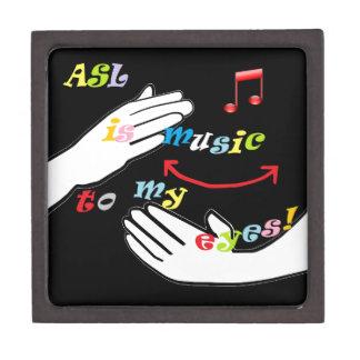 ASL is Music to My EYES! Keepsake Box