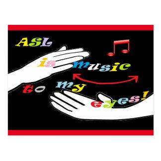 ASL is Music to My EYES! Postcard