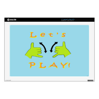 ASL Let's PLAY! Decal For Laptop