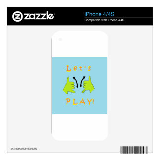 ASL Let's PLAY! Decals For iPhone 4
