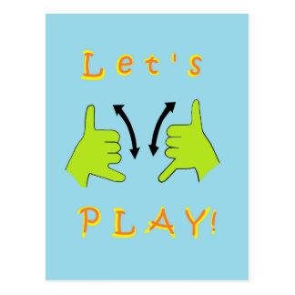 ASL Let's PLAY! Postcard