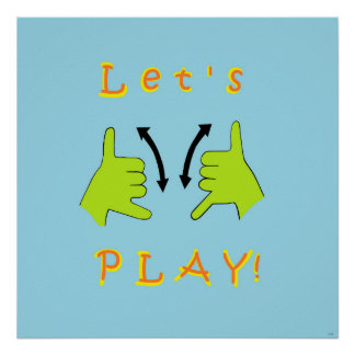 ASL Let's PLAY! Poster