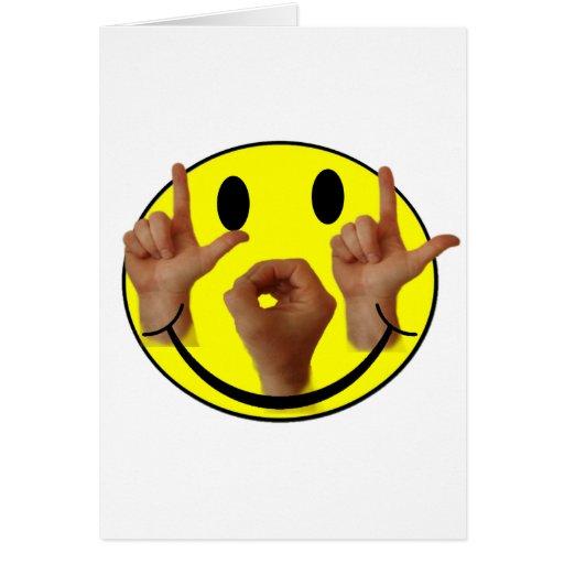 ASL LOL SMILEY FACE CARDS