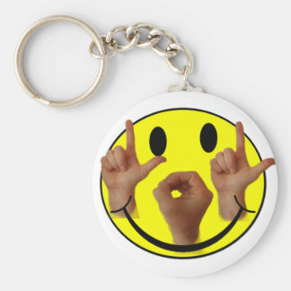 ASL LOL SMILEY FACE KEYCHAIN