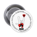 ASL - LOVE SIGN - ADOPT - RESCUE - CATS - DOGS PINBACK BUTTON