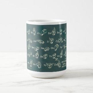 ASL Manual Alphabet Coffee Mug