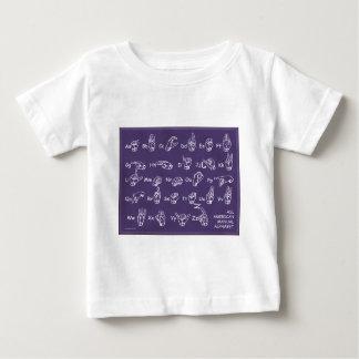 ASL Manual Alphabet Purple Baby T-Shirt