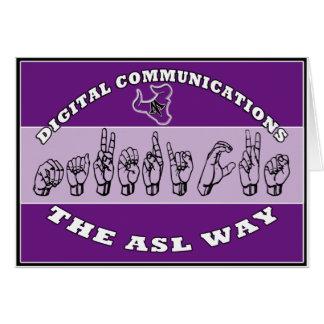 ASL MAVERICKS RANCH HANDS CARD
