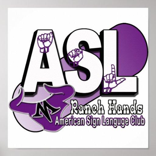 ASL MAVERICKS RANCH HANDS POSTER