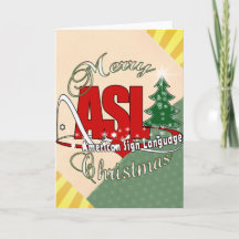 sign language christmas cards zazzle - Merry Christmas In Sign Language
