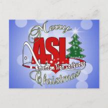 sign language christmas cards zazzle