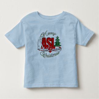 ASL MERRY CHRISTMAS - AMERICAN SIGN LANGUAGE TODDLER T-SHIRT