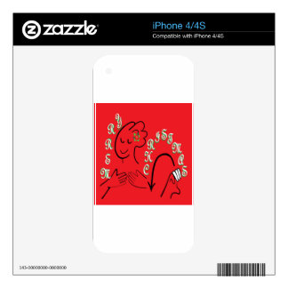 ASL Merry Christmas Skin For iPhone 4S