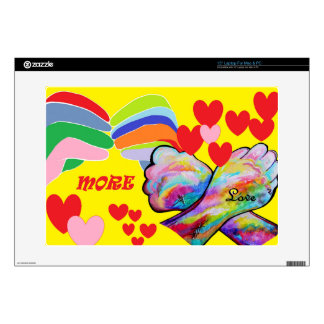 ASL MORE LOVE DECALS FOR LAPTOPS