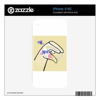 ASL Oh NO iPhone 4S Skins
