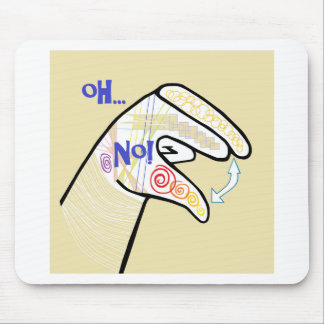 ASL Oh NO Mouse Pad