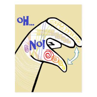 ASL Oh NO Postcard