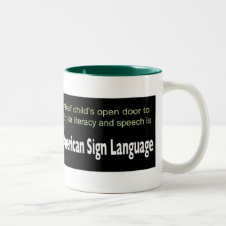 ASL Opens Deaf Child's Education Two-Tone Coffee Mug