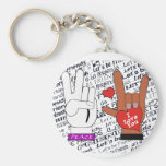 ASL Peace Love Let's Be Friends Key Chains