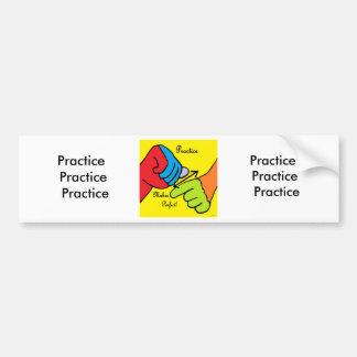 ASL PRACTICE BUMPER STICKER