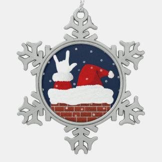 ASL Santa Christmas Ornament I Love You ILY in ASL