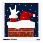 ASL Santa I Love You Christmas Wall Decal / Poster
