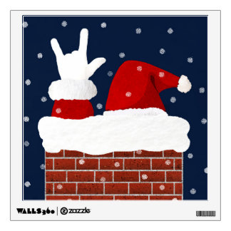 asl santa i love you christmas wall decal poster - Asl Christmas