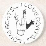 ASL SIGN I LOVE GOATS! COASTERS