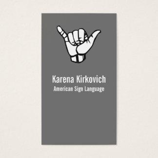 ASL, Sign Language Business Card