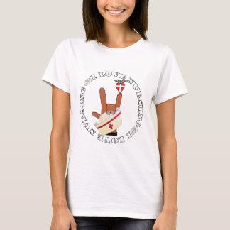 ASL SIGN LANGUAGE I LOVE NURSING HOLD CAP T-Shirt