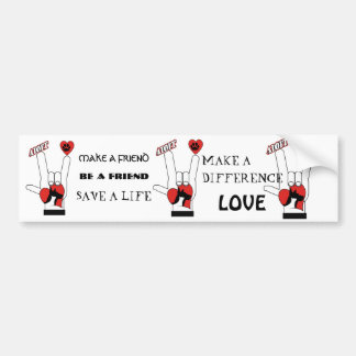 ASL SIGN LANGUAGE - I LOVE YOU RESCUE ADOPT DOGS BUMPER STICKER
