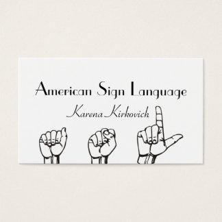 ASL Sign Language Translator Business Card