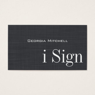 ASL, Sign Language, Translator, Business Card