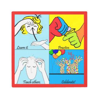 ASL Steps to Success Metal Print