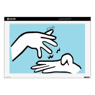 """ASL Study 17"""" Laptop Skin"""