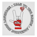 ASL - TALK TO THE HANDS - AMERICAN SIGN LANGUAGE - POSTERS