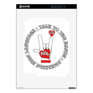 ASL TALK TO THE HANDS SIGN LANGUAGE iPad 2 DECAL