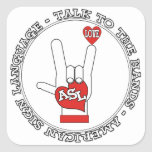 ASL TALK TO THE HANDS SIGN LANGUAGE STICKERS