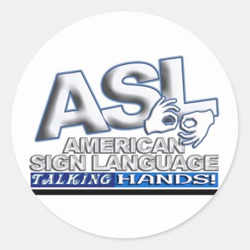 ASL TALKING HANDS - AMERICAN SIGN LANGUAGE STICKER