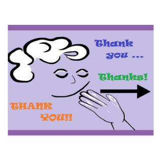 ASL Thank You! Postcard
