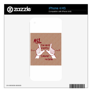 ASL The Most Beautiful Language Decal For iPhone 4