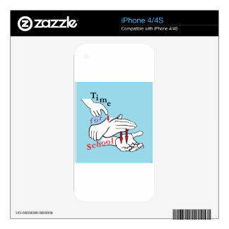 ASL Time for School iPhone 4S Skins