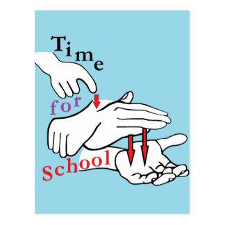 ASL Time for School Postcard