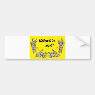 ASL What's UP? Bumper Sticker